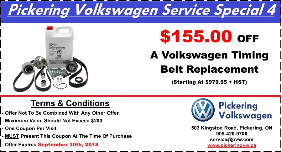 Pickering Volkswagen, Volkswagen Service Department, Volkswagen Repairs, Volkswagen Maintenance, $155.00 OFF Timing Belt, Volkswagen Timing Belt, Timing Belt Replacement, Volkswagen Timing Belt Service, , Pickering Automotive Service,