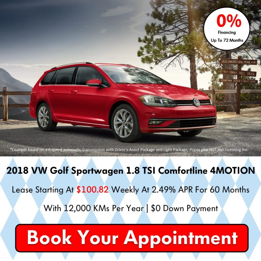 Pickering Volkswagen, Oktoberfest Sales Event, 2018 Volkswagen SELL-OFF, 2019 Volkswagen SELL-OFF, 2018 Volkswagen Golf Sportwagen, 2018 Volkswagen Golf Alltrack, 0% APR Financing, Volkswagen Sales Specials, Volkswagen Deals, sales@pvw.com, 905-420-9700,