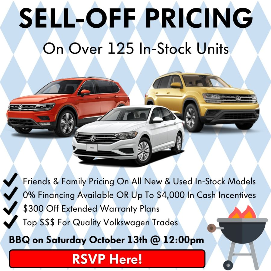 Pickering Volkswagen, Oktoberfest Sales Event, BBQ Volkswagen Sale, 2018 Volkswagen SELL-OFF, 2019 Volkswagen SELL-OFF, Volkswagen Sales Specials, Volkswagen Deals, sales@pvw.com, 905-420-9700,