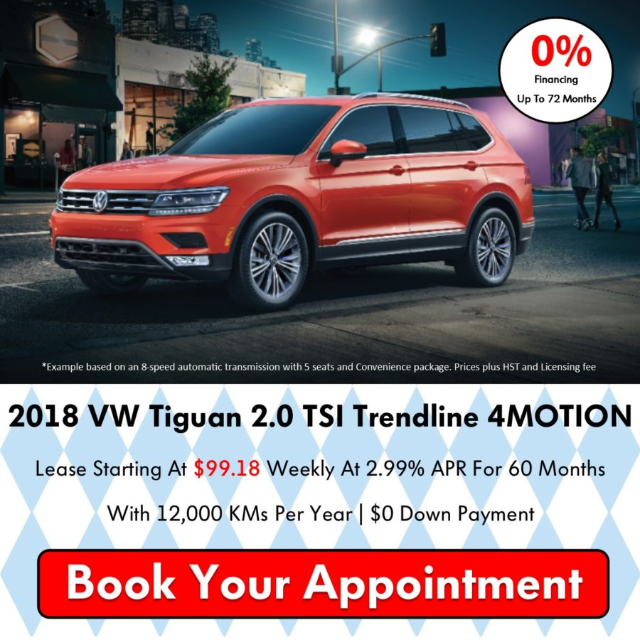 Pickering Volkswagen, Oktoberfest Sales Event, 2018 Volkswagen SELL-OFF, 2019 Volkswagen SELL-OFF, 2018 Volkswagen Tiguan, 0% APR Financing, Volkswagen Sales Specials, Volkswagen Deals, sales@pvw.com, 905-420-9700,