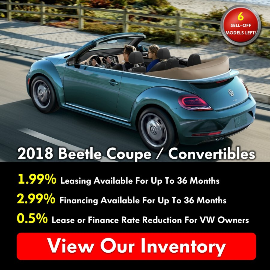 Pickering Volkswagen, Black Friday Sales Event, 2018 Volkswagen SELL-OFF, 2019 Volkswagen SELL-OFF, 2018 Volkswagen Beetle Coupe, 2018 Volkswagen Beetle Convertible, 2.99% APR Financing, 1.99% APR Leasing, Volkswagen Sales Specials, Volkswagen Deals, sales@pvw.com, 905-420-9700,