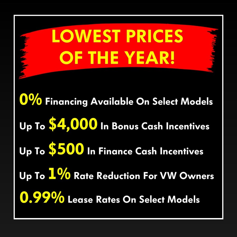 Pickering Volkswagen, Black Friday Sales Event, Lowest Prices Of The Year, 2018 Volkswagen SELL-OFF, 2019 Volkswagen SELL-OFF, Volkswagen Sales Specials, Volkswagen Deals, sales@pvw.com, 905-420-9700,