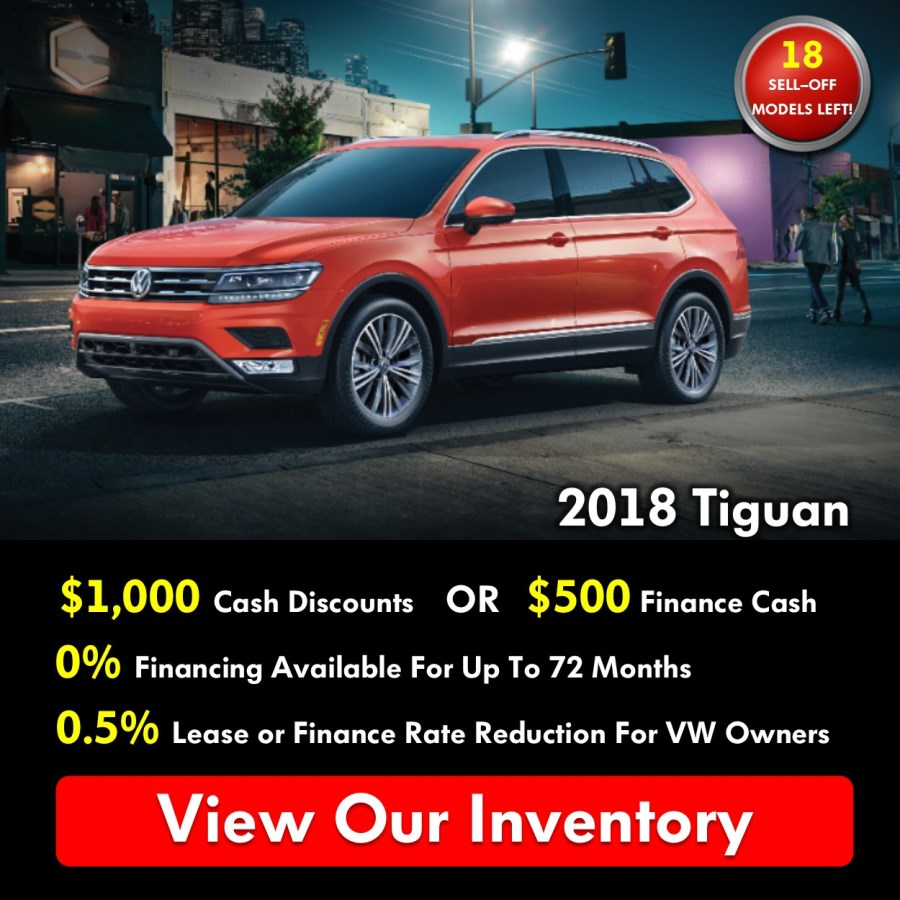 Pickering Volkswagen, Black Friday Sales Event, 2018 Volkswagen SELL-OFF, 2019 Volkswagen SELL-OFF, 2018 Volkswagen Tiguan, $1000 Cash Discounts, 0% APR Financing, Volkswagen Sales Specials, Volkswagen Deals, sales@pvw.com, 905-420-9700,