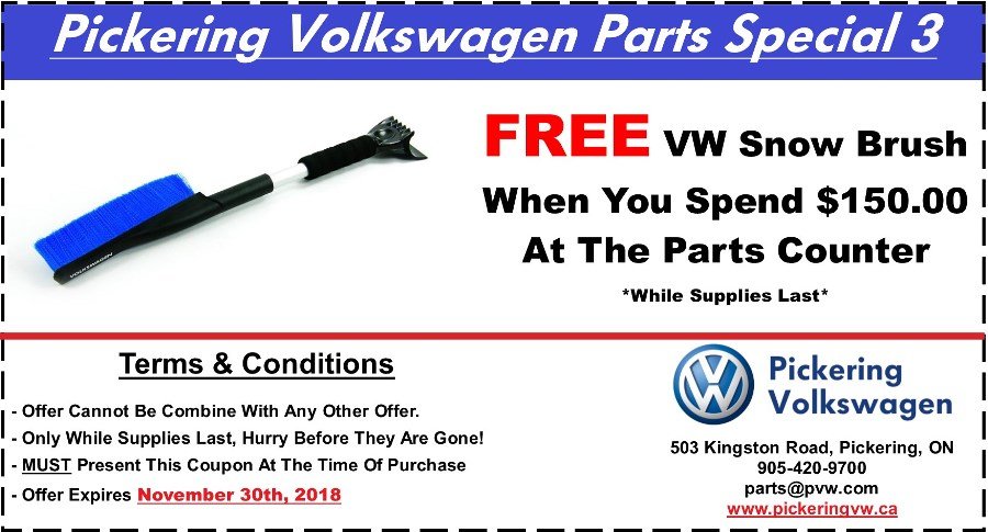 Pickering Volkswagen, Volkswagen Parts Department, Volkswagen Accessories, Volkswagen Boutique Items, Volkswagen Gifts, Volkswagen Collection Items, Volkswagen Protection Products, Volkswagen Snow Brush, Pickering Volkswagen Parts Centre, Pickering Volkswagen Accessory Centre, 905-420-9700, parts@pvw.com